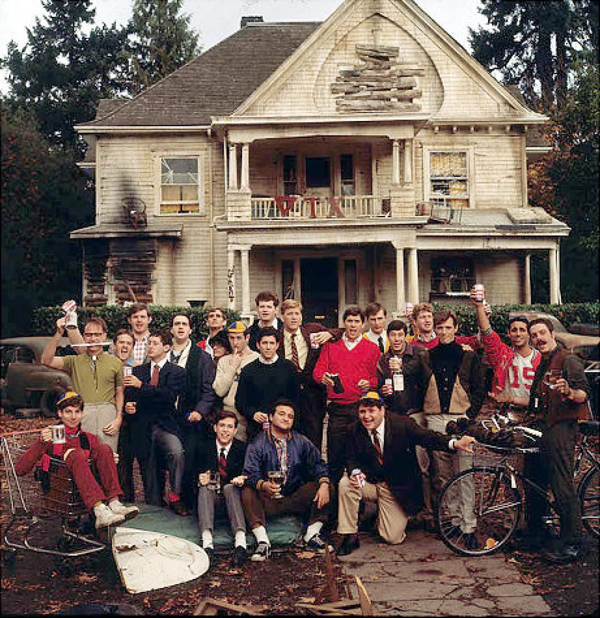 """<small><strong>The fictional Faber College fraternity in """"Animal House"""" loosely inspired by the Alpha Delta fraternity at Dartmouth College.</strong></small>"""
