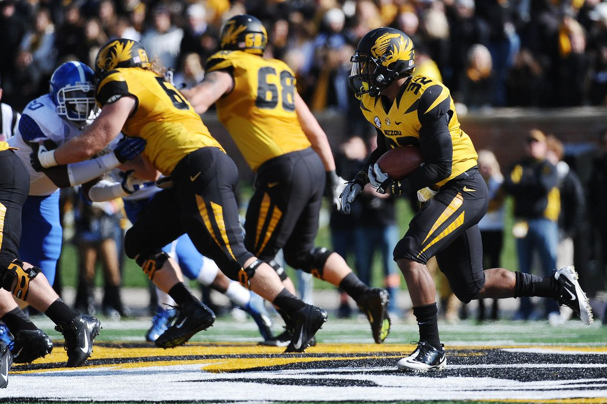 Kentucky's defense was blown away by the Missouri offensive line.