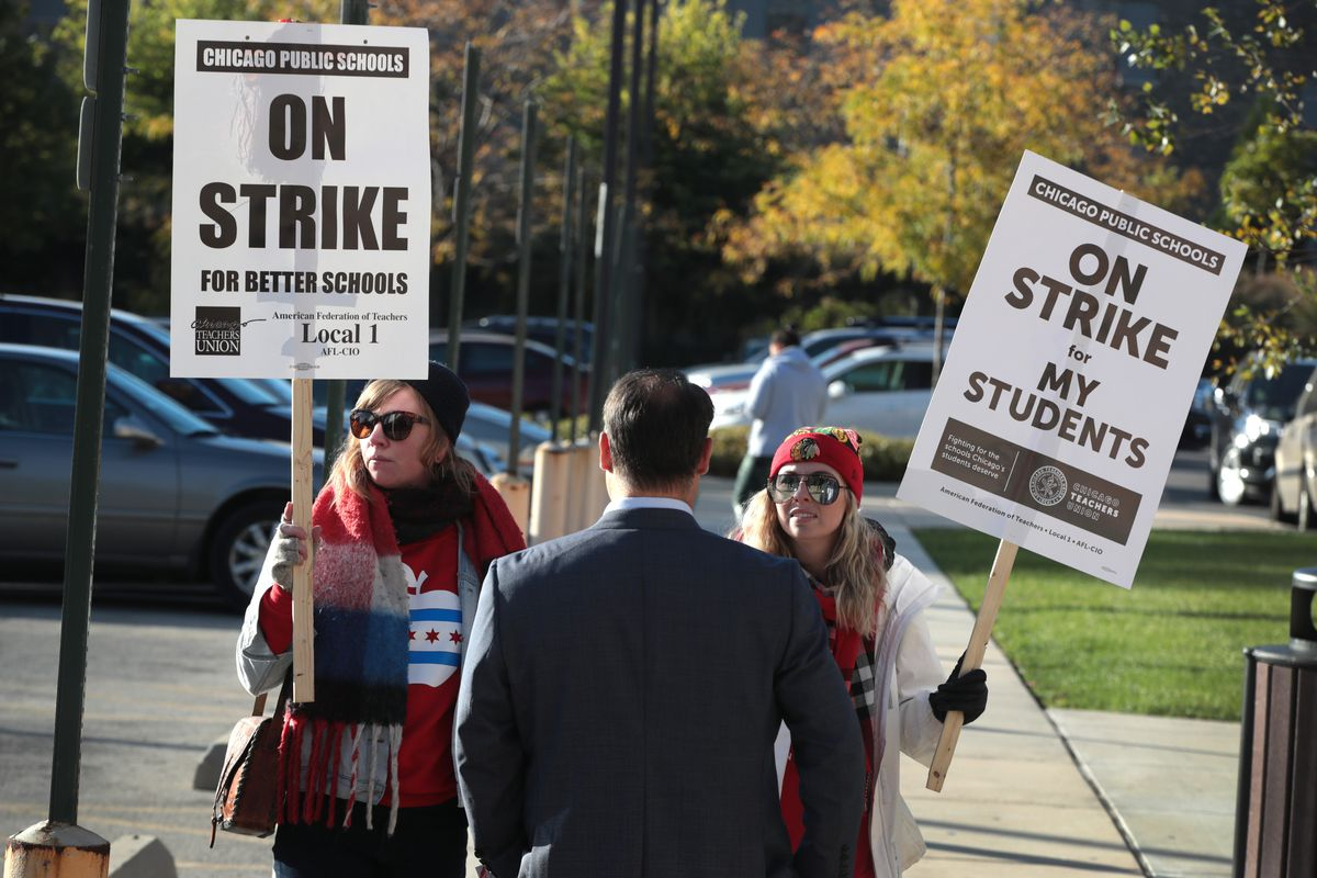 Chicago Public School Teachers Go On Strike