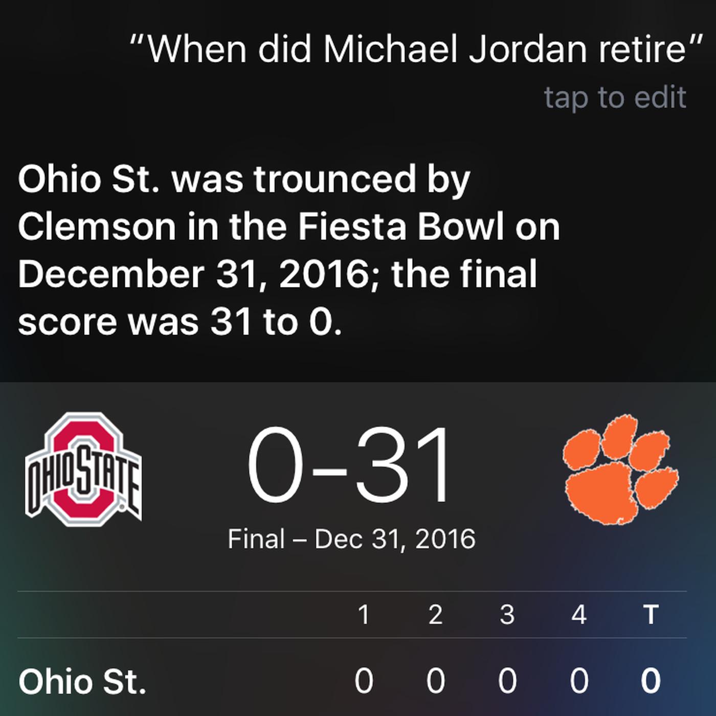 Why Siris Turning A Michael Jordan Question Into A Vicious Ohio
