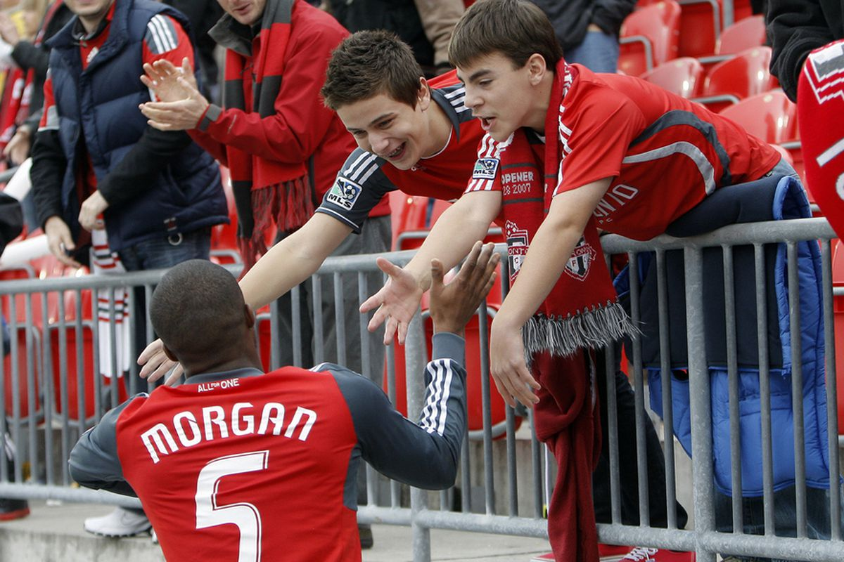 Toronto FC is doing something right. It isn't just the fans in the stands supporting a club that tries their patience. (Photo by Abelimages/Getty Images)