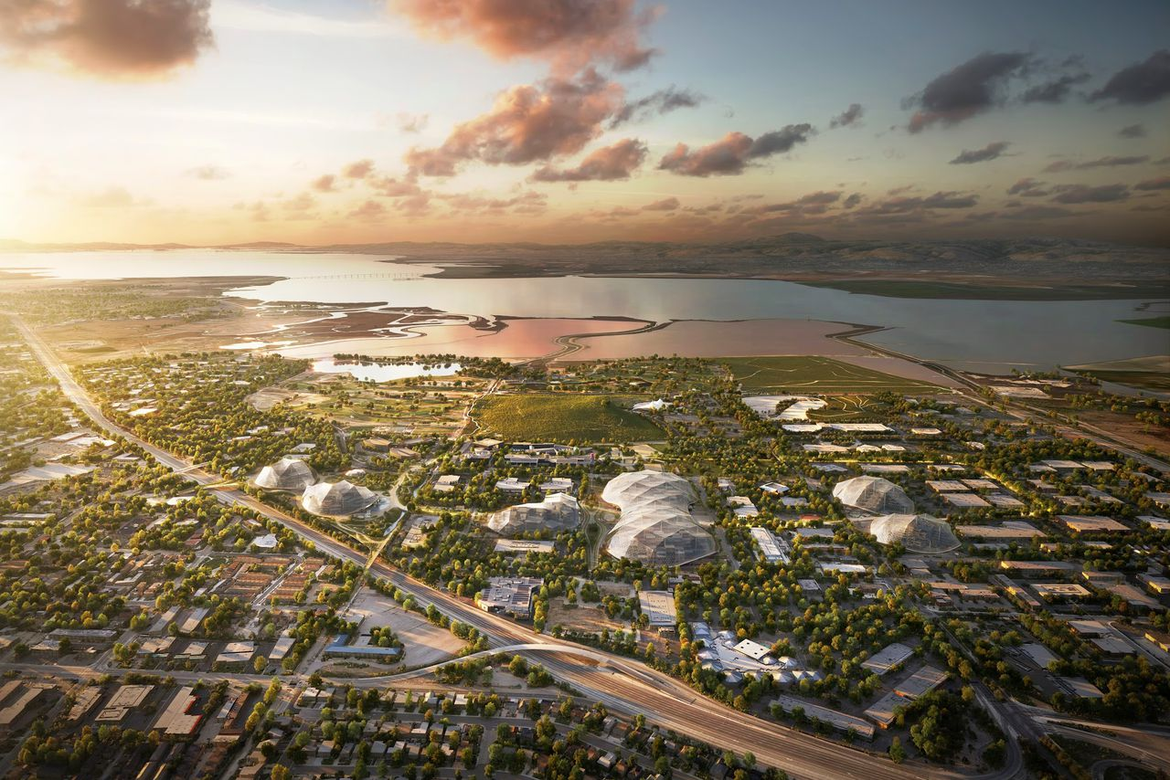 Here are the renderings of Google\'s futuristic new headquarters ...