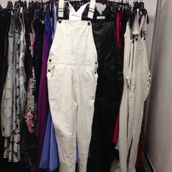 Leather overalls, price not marked
