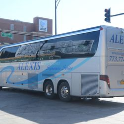 3:46 p.m. Visiting team bus backs in on Sheffield -
