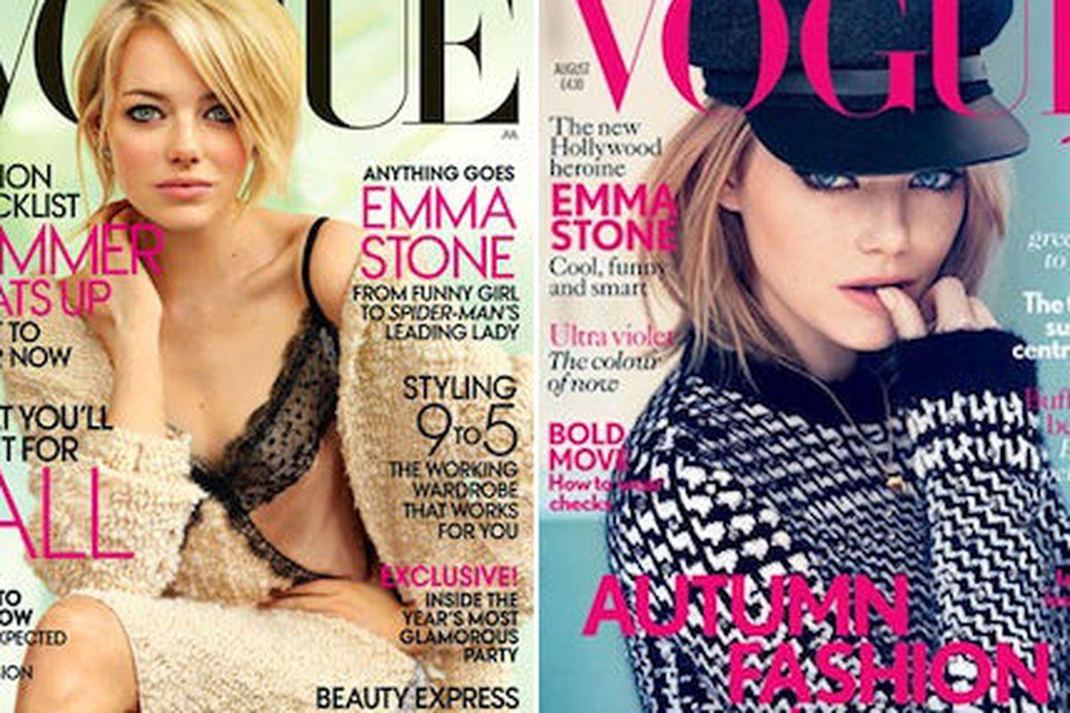 Images via Vogue, Vogue UK