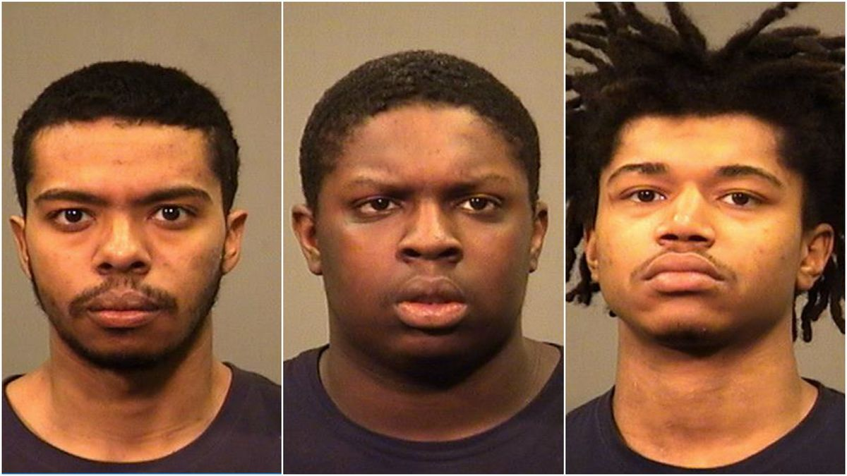 Three men are charged with stealing items from vehicles in the suburbs.