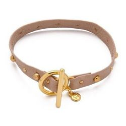"<a href=""http://www.shopbop.com/graham-leather-varied-stud-bracelet/vp/v=1/845524441948721.htm?folderID=2534374302025763&fm=other-shopbysize-viewall&colorId=11231""> Gorjana Graham Leather Bracelet</a>, $32 (was $58)"