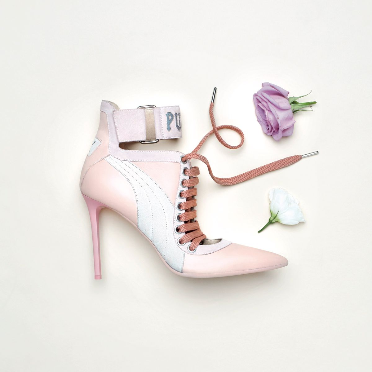 pink stiletto sneaker heels