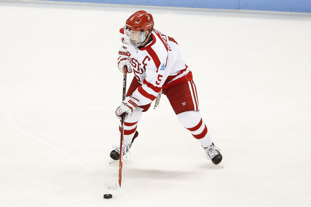 Matt Grzelcyk and the Terriers head down Commonwealth Ave. to face the Eagles at 8 p.m. on NBC Sports Network.
