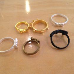 Rings, $10 each