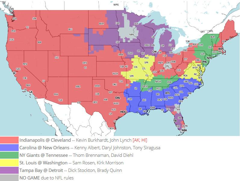 Week 14 TV Map