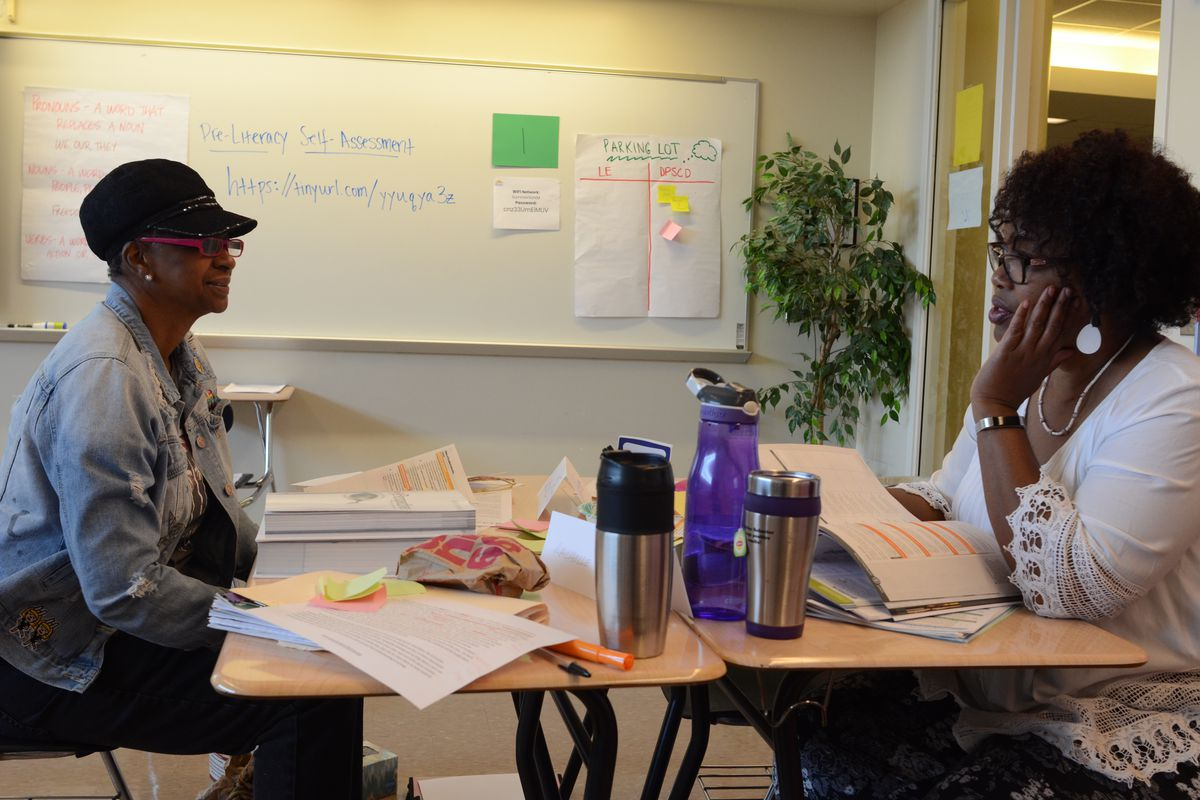 Detroit high school teachers were trained this summer on the district's new math and literacy curriculum.
