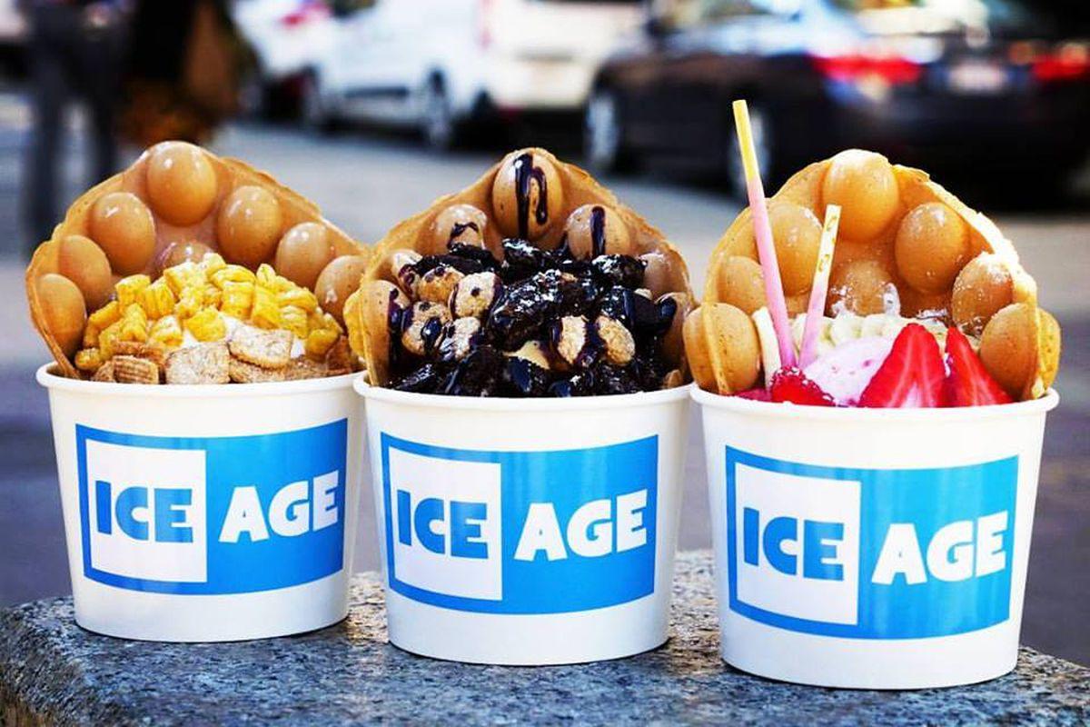 Desserts at Ice Age