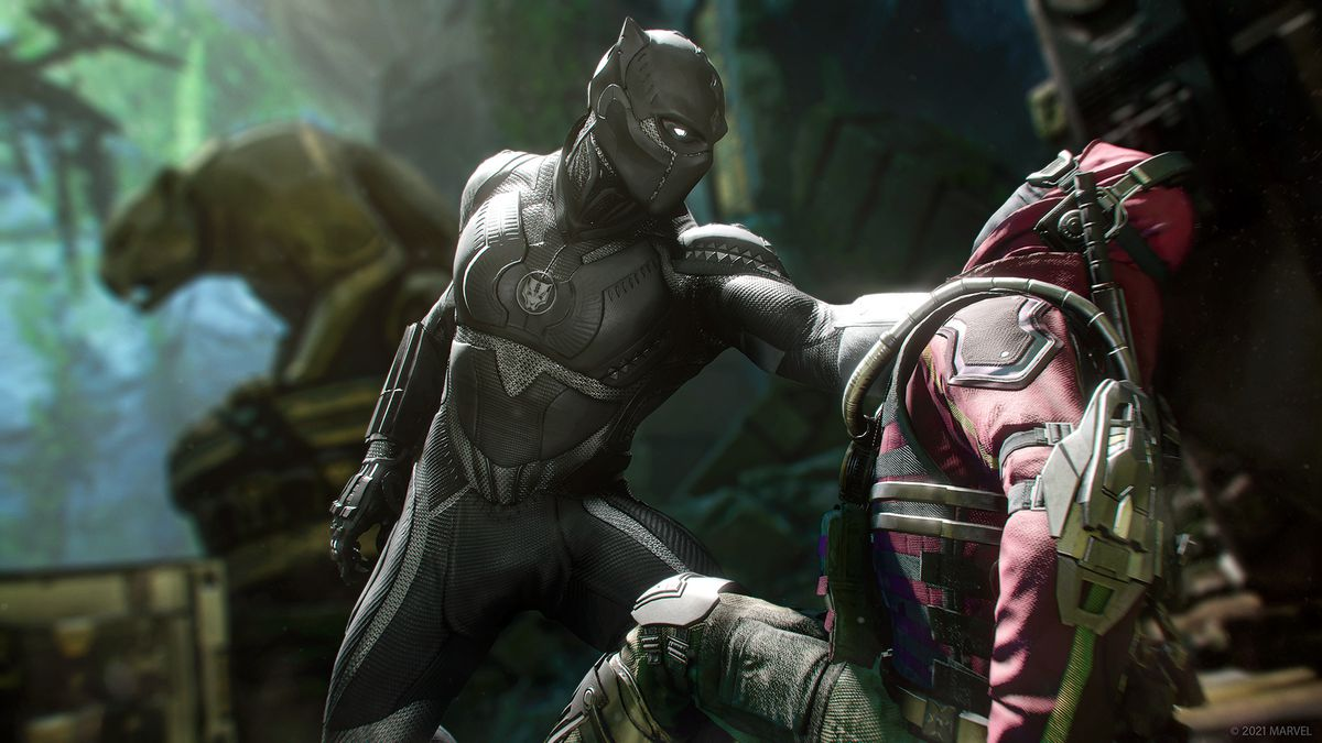 Black Panther grabs an enemy in Marvel's Avengers