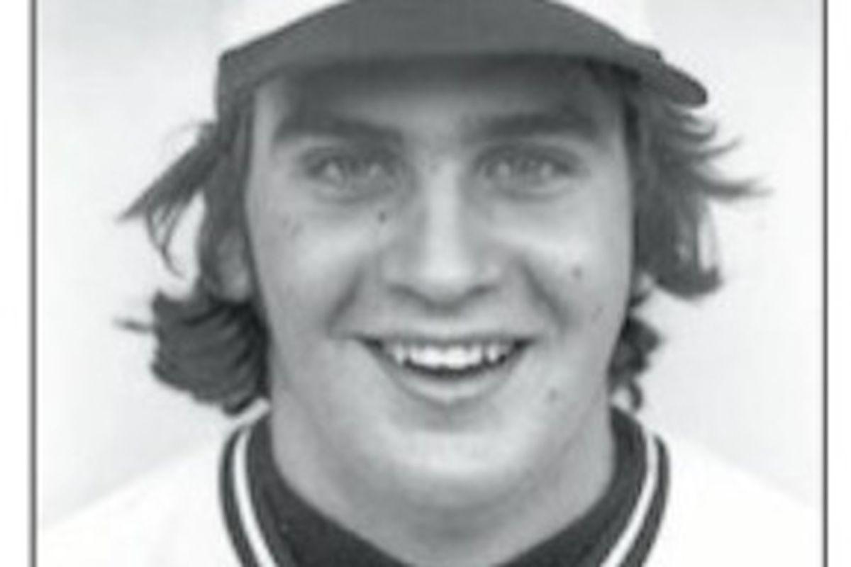 A young Bob Welch. (via EMU baseball media guide)