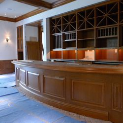 Local wineries will stamp their logos on the bar top at the Gold Cup Wine Bar.