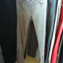 Tweed leggings with ankle zippers for fall
