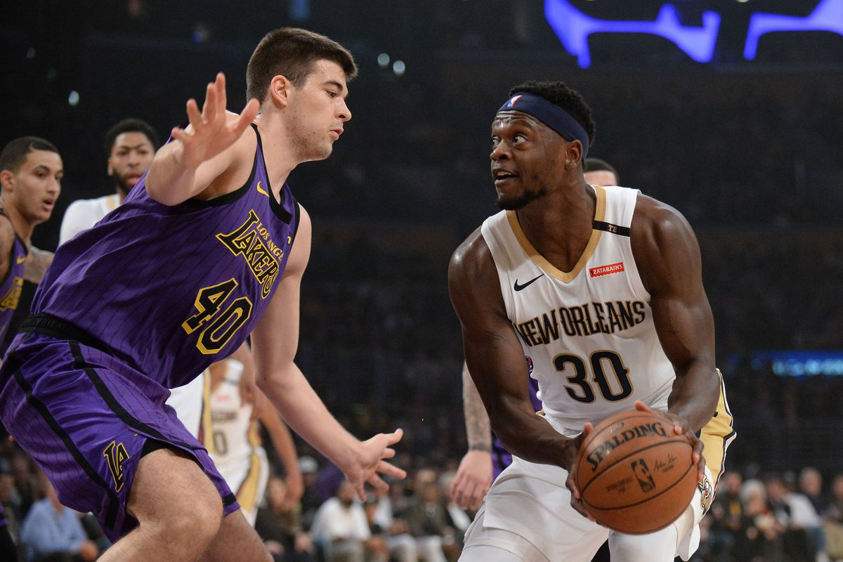 6f54704a338 Lakers vs. Pelicans Final Score: L.A. enjoys home cooking in 112-104 win  over New Orleans - Silver Screen and Roll