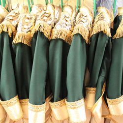 """David Heuvel, Director of Costume Production, travelled to New York, Los Angeles and London to find fabrics for Ballet West's costumes used in """"The Nutcracker."""" Genuine gold lace for the soldier's outfits recently came in from Europe."""