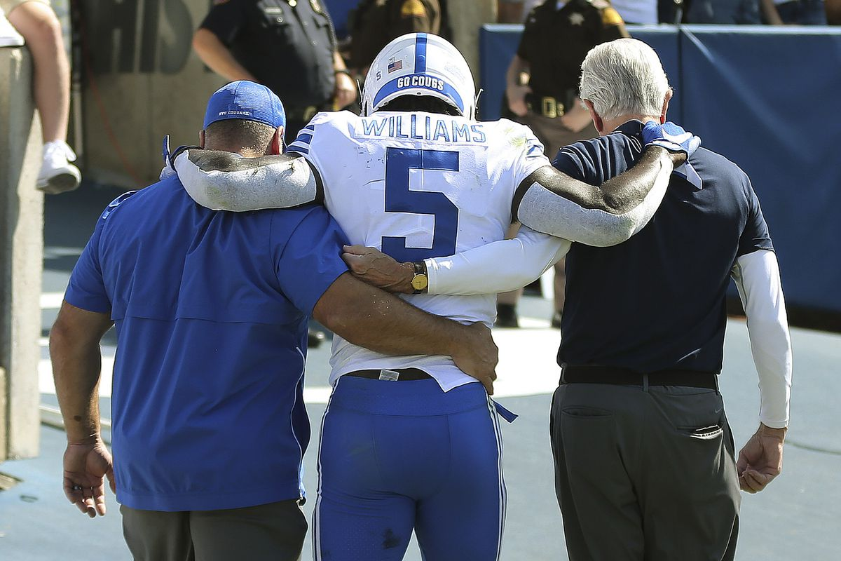 online store 5340c 8fceb BYU football: Ty'Son Williams' apparent knee injury to be ...