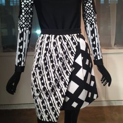 A black-and-white style.
