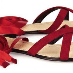 Dolce & Gabbana ribbon-tie suede sandals, $114 (orig. $760)