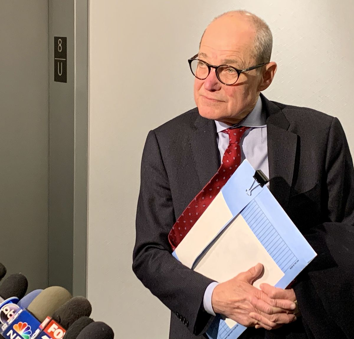 Sheldon Sorosky, an attorney for ex-Gov. Rod Blagojevich, speaks to reporters Tuesday.
