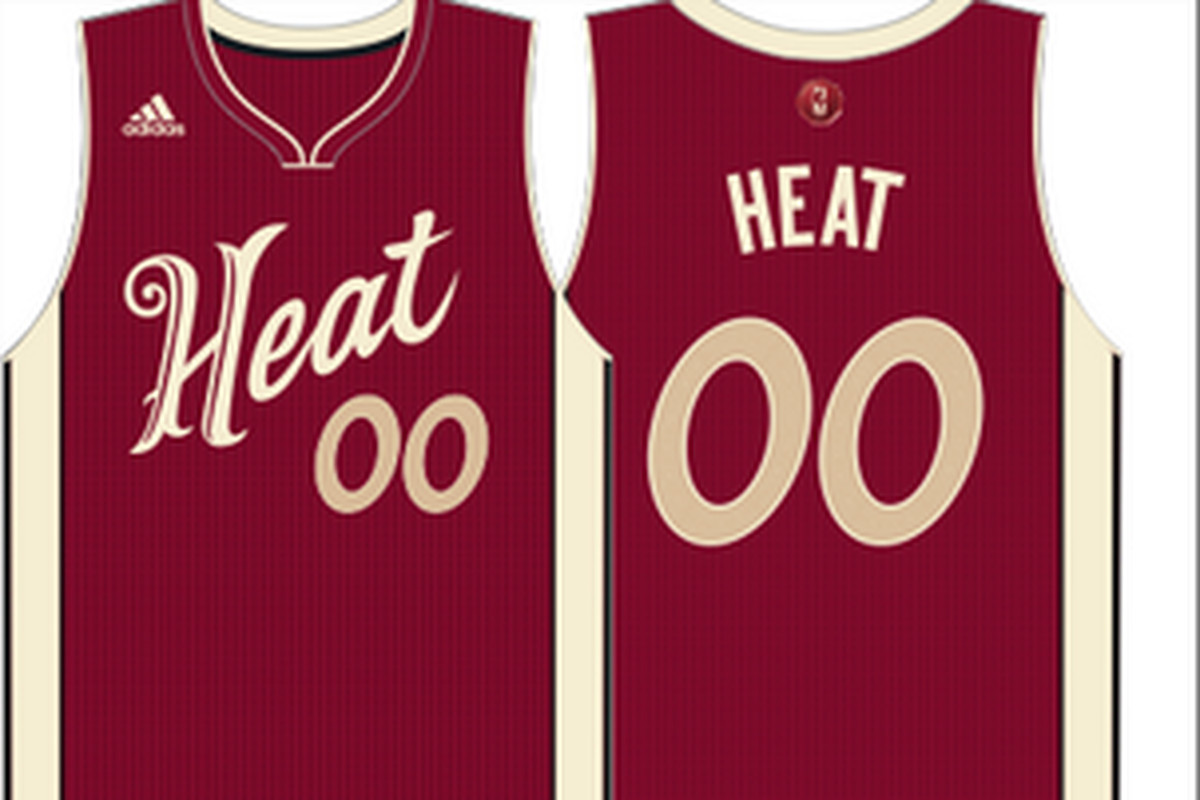 Miami heat christmas edition jersey heat christmas day jersey heat - We Have Yet To Celebrate The Fourth Of July But The Nba Already Has Released Its Christmas Jersey Line Since Next Season S Schedule Has Yet To Be Released