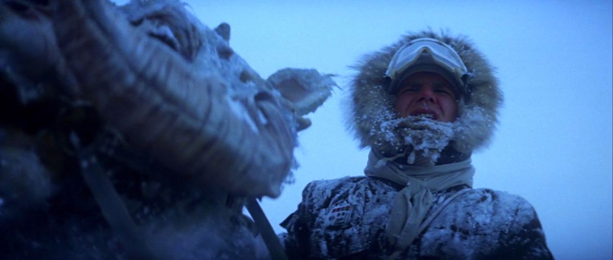 Han Solo on Hoth in Star Wars: The Empire Strikes Back