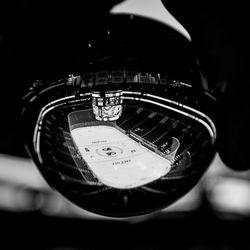 The arena, seen through a ball of glass