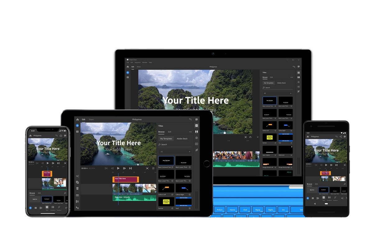 Adobe launches Premiere Rush CC, a video-editing app made for