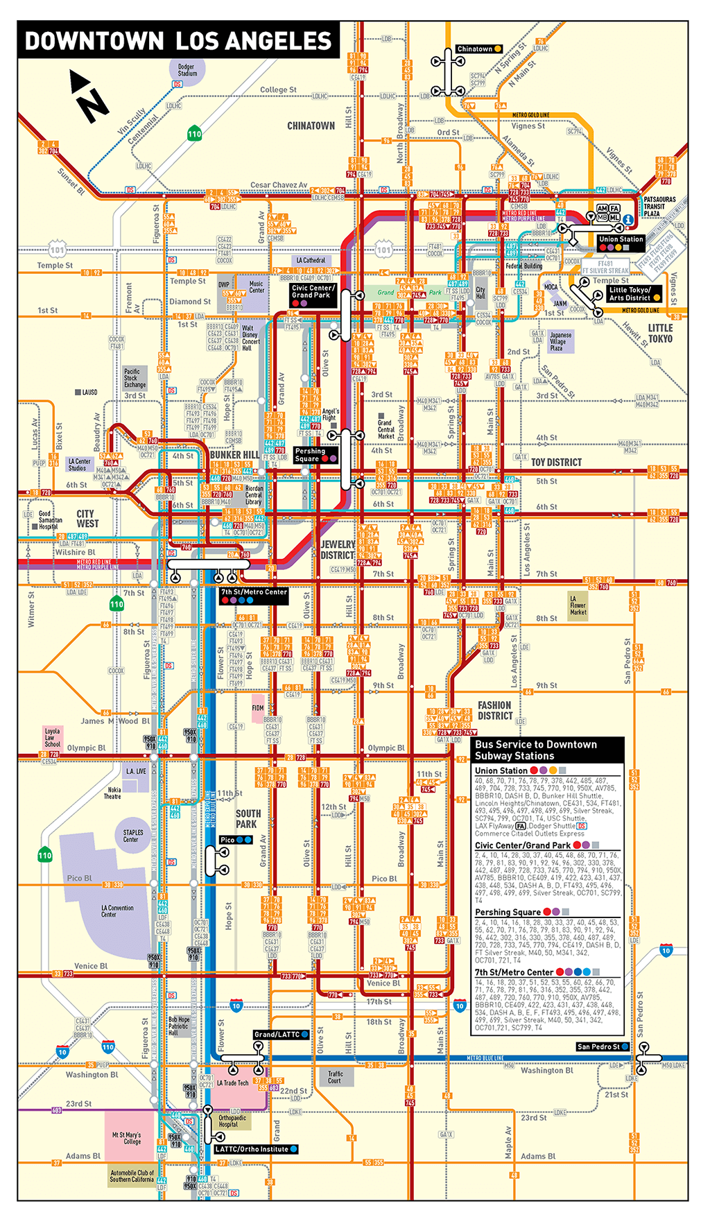 Map of Metro bus system