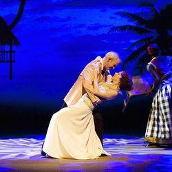 "Patrick Galligan, left, and Deborah Hay act in a scene from ""We Were Dancing."""
