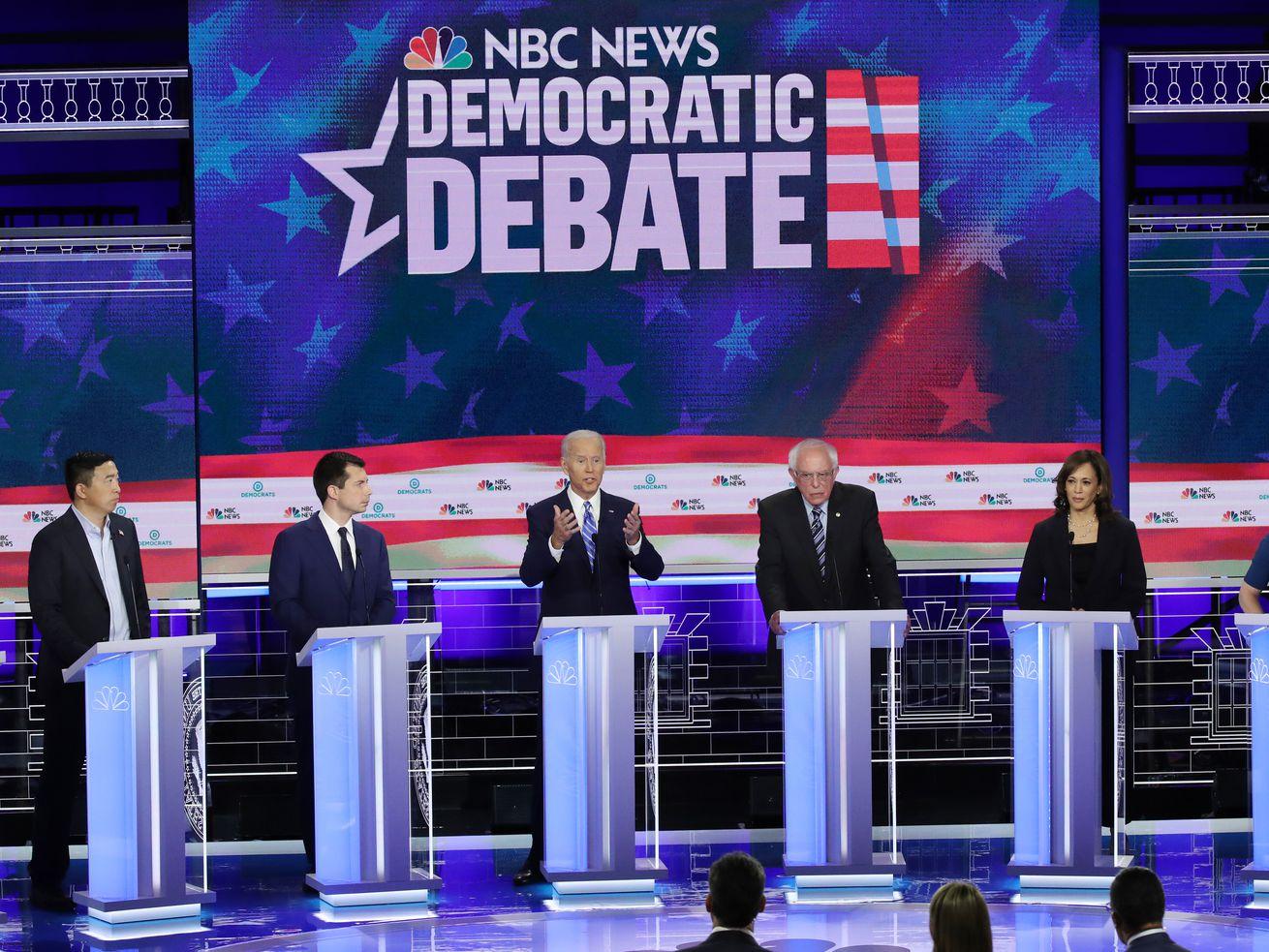 Democratic debate stage on June 27, 2019.