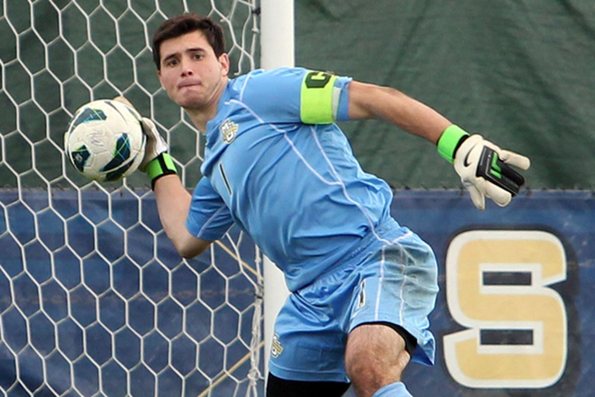 Goalkeeper Charlie Lyon looks to make his mark on the Marquette record book this season.