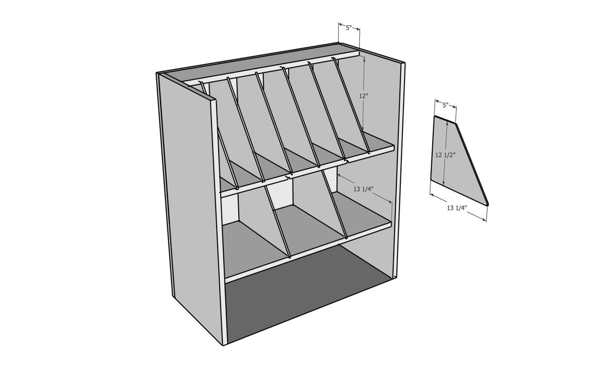 House One, Mobile Workbench Tool Organizer cut list drawing