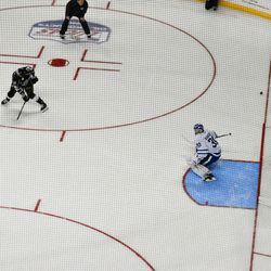 Martin Frk and Chris Terry shoot on Kasimir Kaskisuo in the rapid fire challenge