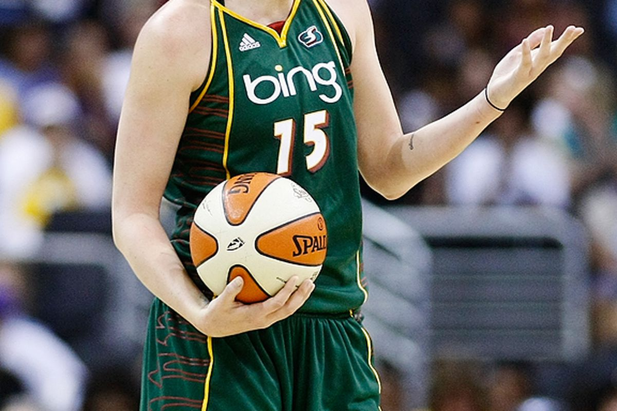 Seattle Storm forward Lauren Jackson is out for today's game against the Liberty with a concussion after catching an elbow from DeLisha Milton-Jones. <em>(Photo courtesy of Craig Bennett/112575 Media)</em>