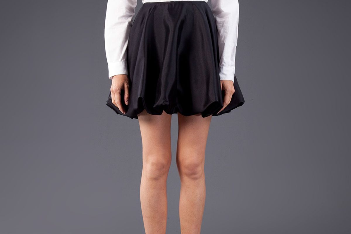 "Technically, not a dress: Simon endorses this Harvey Faircloth <a href=""http://www.shoptrafficla.com/shopping/women/harvey-faircloth-bubble-hem-skirt-item-10481335.aspx"">bubble skirt</a> too. Image via TRAFFIC LA."
