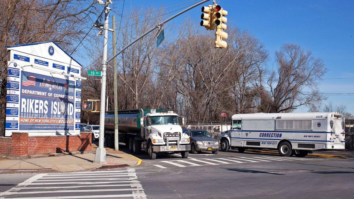 The entrance to Rikers Island on Hazen Street in Queens, Jan. 21, 2019.