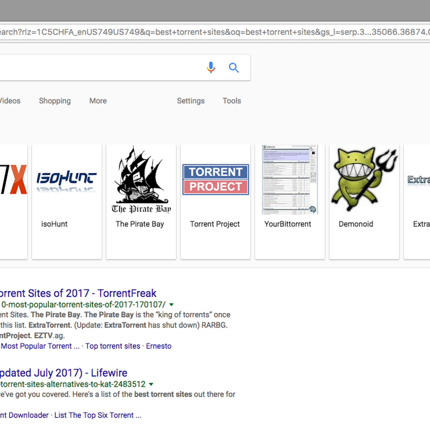 Google search now casually highlights 'best torrent sites' [Updated