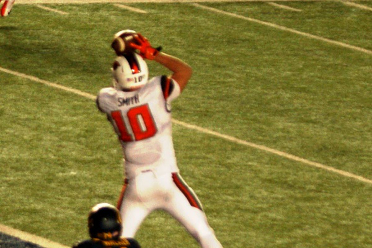 Caleb Smith will be looking to snag more catches like this.