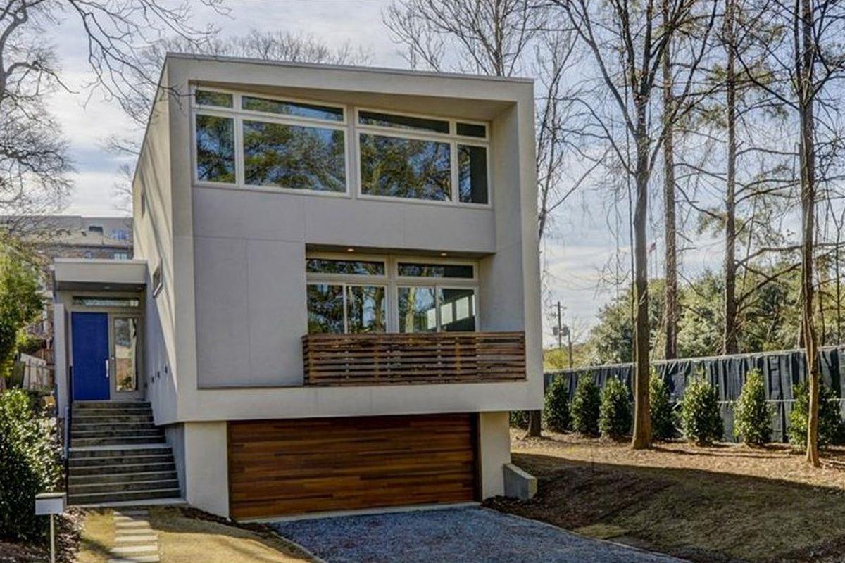 A modern house in Atlanta's Poncey-Highland neighborhood.