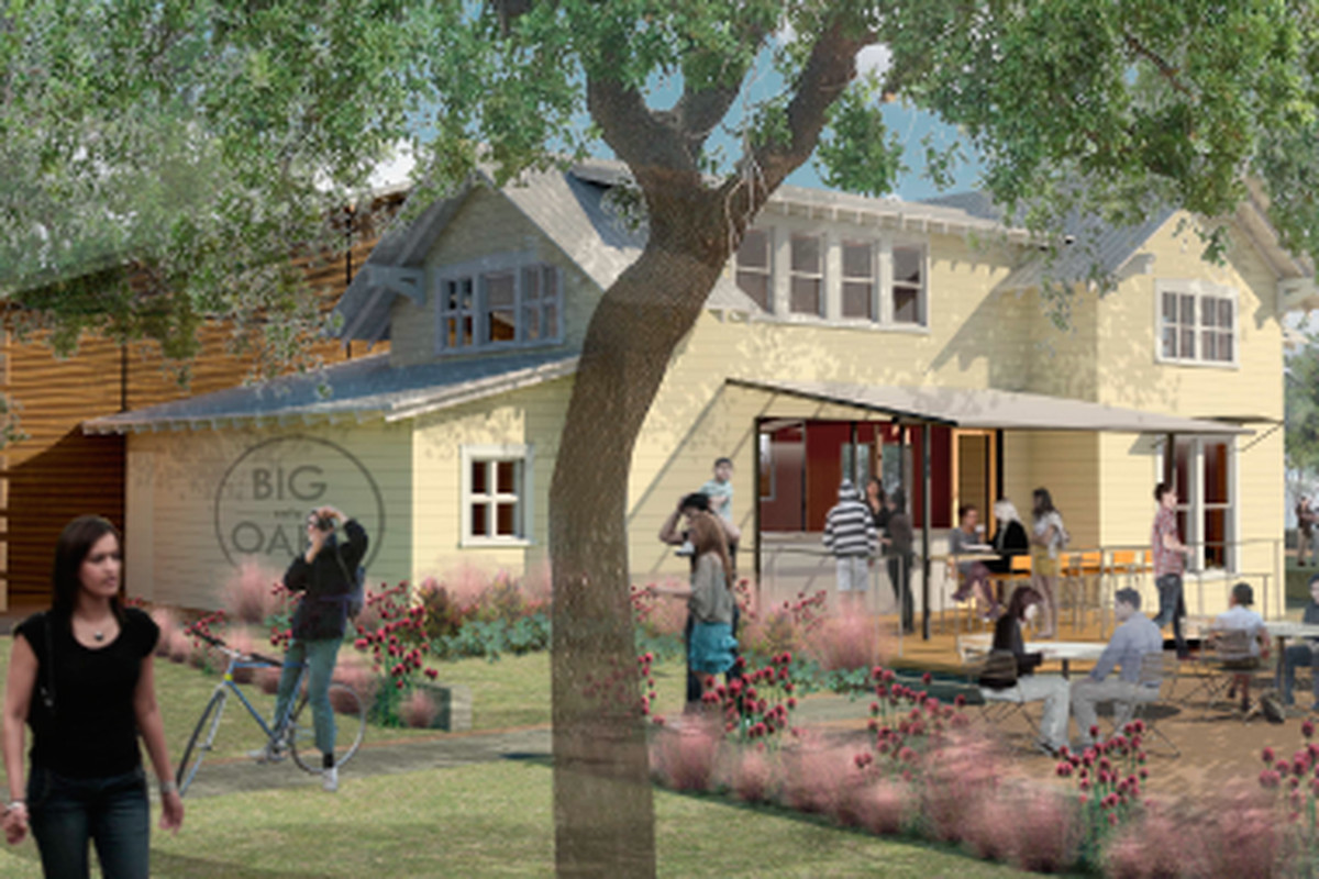 A rendering of Evelyn's Park's yet-unnamed cafe concept.