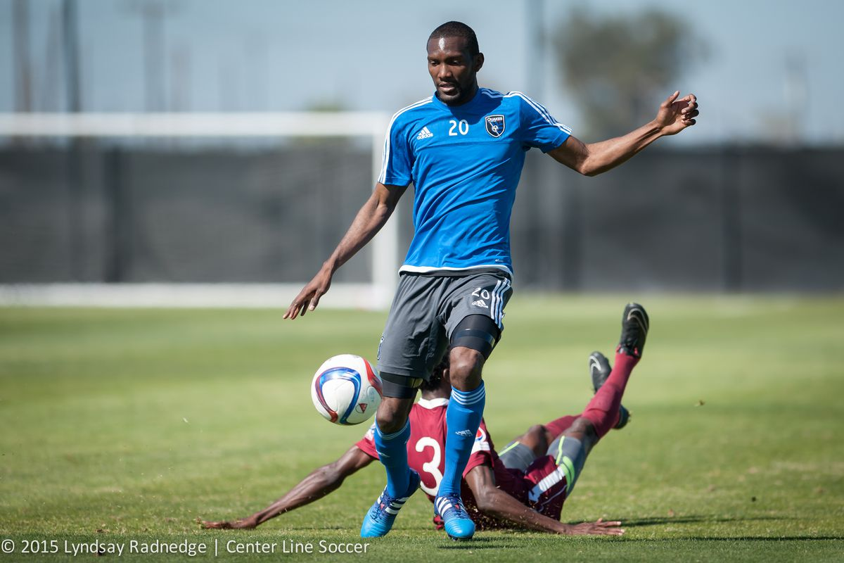 Shaun Francis scored one of the Earthquakes four goals aganst SF Stompers FC