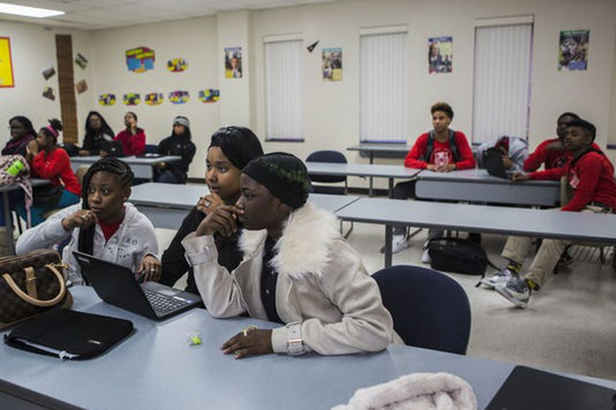 Southwest Early College High School enrolled 99 students during its first year, according to state data. Its latest scores on the state exam fell below district averages, and it had received a good rating from Shelby County Schools in the district's own report card.