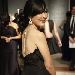 Most guests were adorned in Van Cleef jewels for the night.
