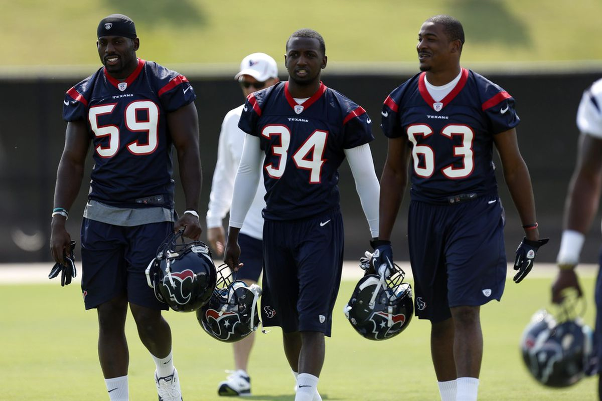It's DeMeco Ryans, Dom Barber, and Chris White!  Wait . . . no.  Nevermind.