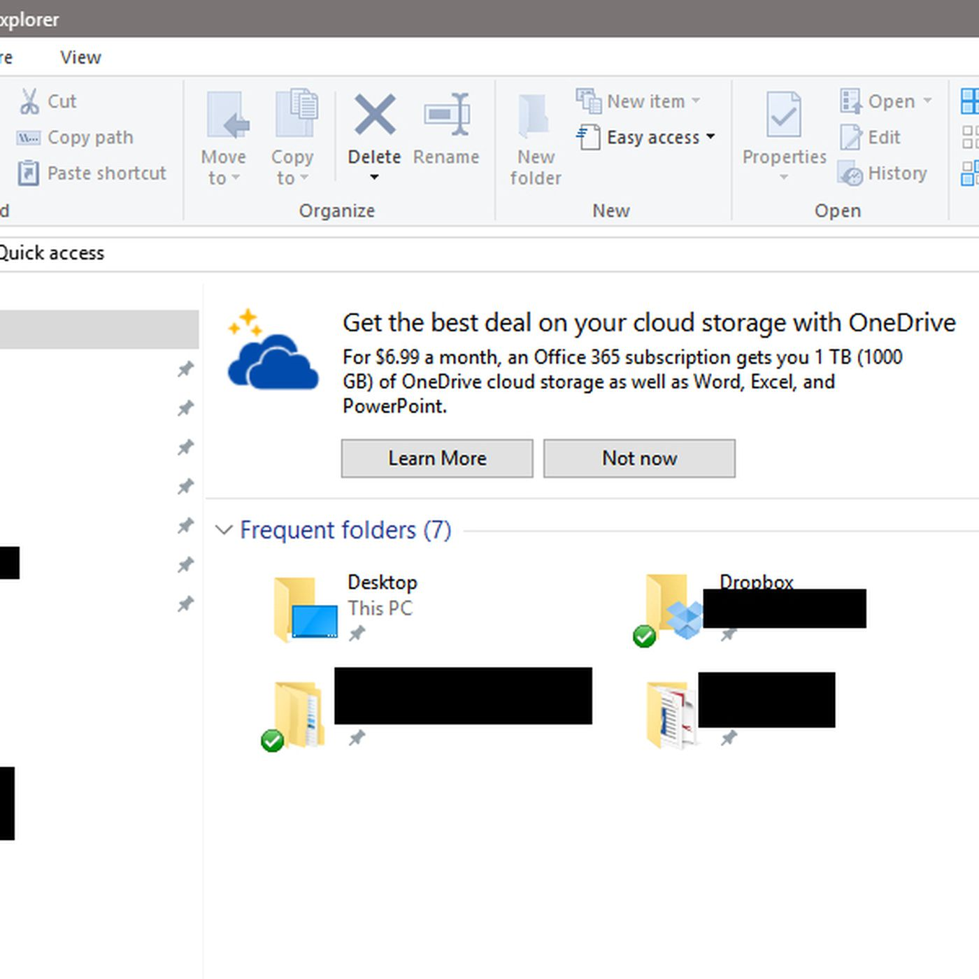 Microsoft is putting OneDrive ads in Windows 10's File