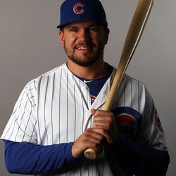 This was the only photo I found of Kyle Schwarber smiling